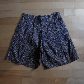 "superNova. - 2Pleats Wide Short ""Apple Leopard"""