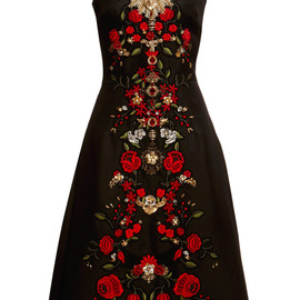 DOLCE&GABBANA - SS2015 Sleeveless Gazar Embellished A-Line Dress