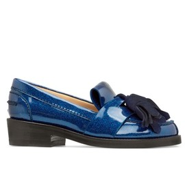 Acne - azalea glitter loafer blue