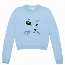 OPENING CEREMONY - 【New】2013/SS○Opening Ceremony○Merino Cat Embroidered Sweater/Babyblue 1
