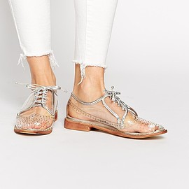 DAISY STREET - Image 1 of Daisy Street Clear Brogue Flat Shoes