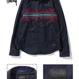 Stussy - wool comp band shirt