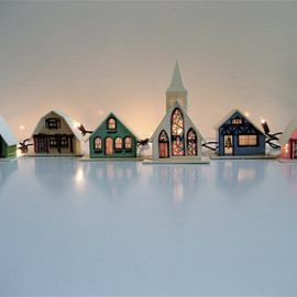lovintagefinds - Vintage Christmas Light Covers (Set of 9)