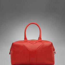 Yves Saint Laurent - Medium YSL Easy in Coral Patent Leather