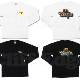 A BATHING APE - (エイプ)MILO ON MILOALL SAFARI BAPE 長袖Tシャツ