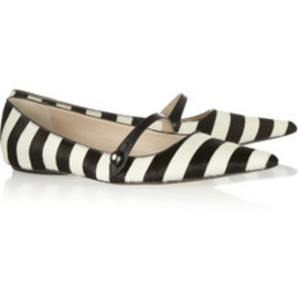 MARC JACOBS - Striped calf hair flats