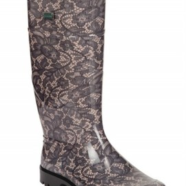 DOLCE&GABBANA - RUBBER LACE BOOTS