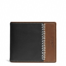 COACH - Coach  BLEECKER BASEBALL STITCHED DOUBLE BILLFOLD