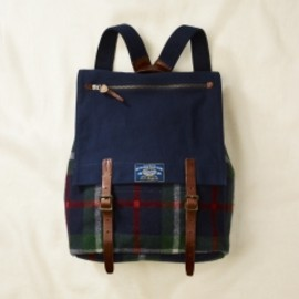 RUGBY RALPH LAUREN - Plaid Wool & Canvas Backpack