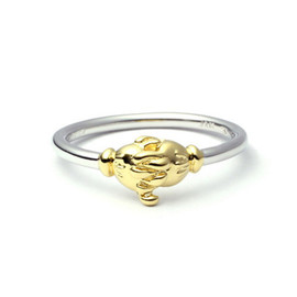 JAM HOME MADE - MICKEY & MINNIE SHAKE HANDS RING -GOLD-