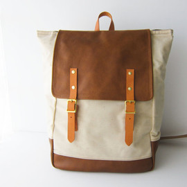 Backpack No.5 Dual Look -- Natural Waxed Canvas with Leather