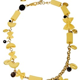 DOLCE&GABBANA - BRASS AND RESIN PASTA CHARM NECKLACE