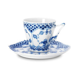 Royal Copenhagen - Blue Fluted Full Lace/ Cup & saucer coffee 14 cl