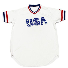 VINTAGE - Vintage Wilson Red/White/Blue USA Jersey Mens Size Medium