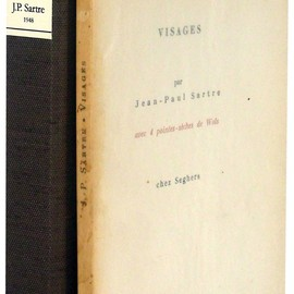 "Jean-Paul Sartre - ""Visages précédé de Portraits Officiels"" Limited 900 copies, 1948"
