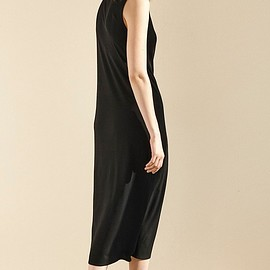 Eileen Fisher - Eileen Fisher Funnel Neck Silk Midi Dress