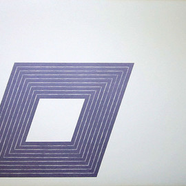 """Frank Stella - FRANK STELLA Signed 1972 Original Color Lithograph from """"The Purple Series""""                          