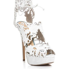 CHARLOTTE OLYMPIA - Belinda suede cut out shoes