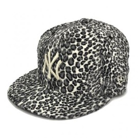 NEWERa - ANIMAL FUR 59FIFTY CAP YANKEES(MLB) WHITE LEOPARD/SILVER