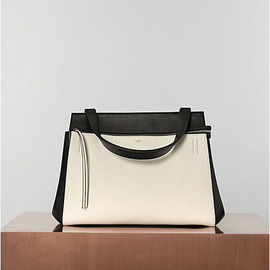 CELINE - EDGE IN TEXTURED CALFSKIN WHITE