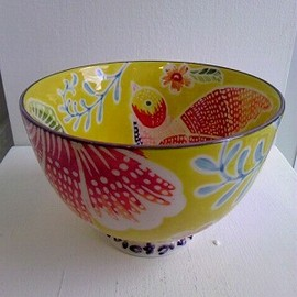 Anthropologie - Flame Leaf Bowl