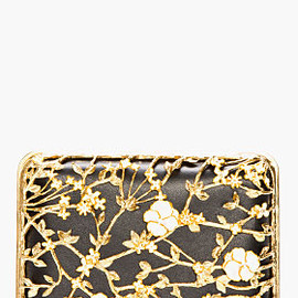 Alexander McQueen - Black Gold Floral Bible Book Clutch