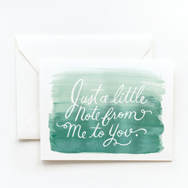 Rifle Paper co. - Watercolor Note Card - Blue