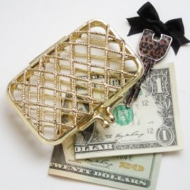 "Gladys Morris - 1970-80's ""GOLD MESH"" Small Purse【箱付きDEAD-STOCK♡】"