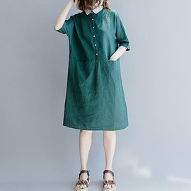 Summer dress - Summer dress, maxi dress,Dresses for women, Dark green,cotton dress Dark blue