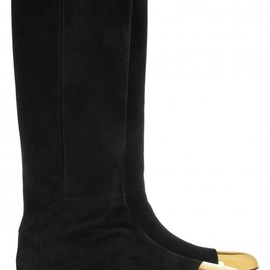 Yves Saint Laurent - Rita flat suede and metal boots