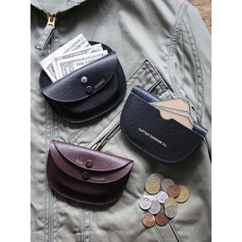 KAPTAIN SUNSHINE×PORTER & CO. - Goat Skin Round Wallet