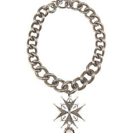 Alexander McQueen - SS2016 Crystal-embellished chain chocker