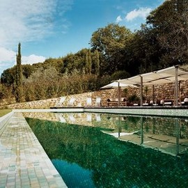 Castello di Vicarello - Swimming pool at Castello di Vicarello, Maremma, Tuscany, Italy