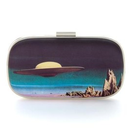 ANYA HINDMARCH - Marano Planets Cruiser clutch - Light Blue