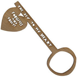 Rob Ryan - 'Forgives And Trusts' Wooden Key