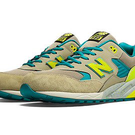 New Balance - Elite Neon 580 / Tan with Yellow & Teal