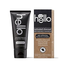 hello® - activated charcoal fluoride free toothpaste