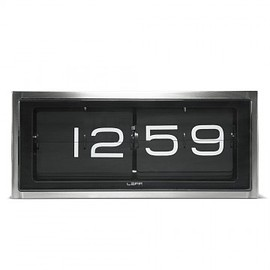 LEFF Amsterdam - Brick Steel Clock - Black