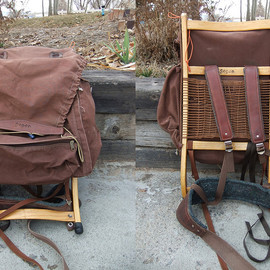 Segen Pax - Wood frame and Canvas Backpack