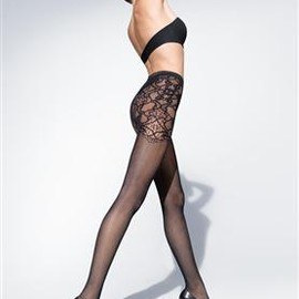 Lace Print Stockings