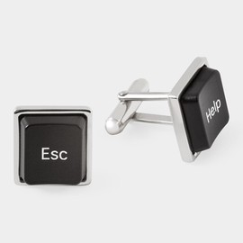 "MoMA - ""Help Escape"" Computer Cufflinks"