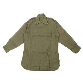 VINTAGE - Olive French 1940's Army Shirt