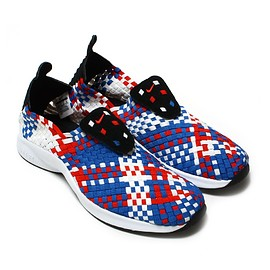 NIKE - NIKE AIR WOVEN  BLACK/RUSH RED-BLUE JAY-SAIL