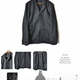 BLACK SIGN - Linen Twill Butler A Jacket