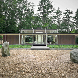 Kengo Kuma - Glass & Wood House, New Canaan, USA