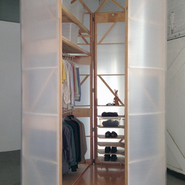 Superorganism - Tuberoom - translucent hinged walk-in closet