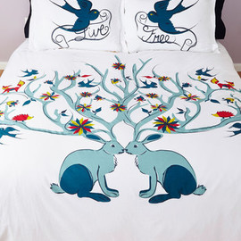 Modcloth - Too Cute to be True Duvet Cover in Full/Queen