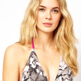 asos, Ted Baker - Ted Baker Wild Horses Triangle Bikini Top With Removable Cookies