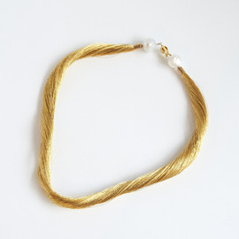 TARO HORIUCH - Gold Line Pearl Necklace