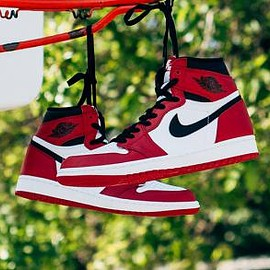 NIKE - NIKE AIR JORDAN 1 RETRO HIGH OG WHITE/BLACK-VARSITY RED